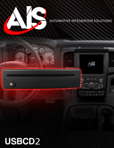 ADD-ON USB CD PLAYER SEE VEHICLE FITMENT FOR COMPATIBILITY PART#USBCD2
