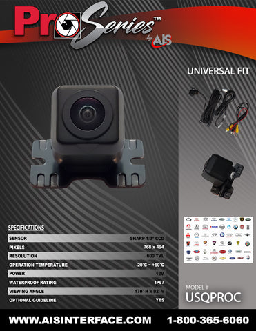 PRO SERIES CAMERA PART#USQPROC