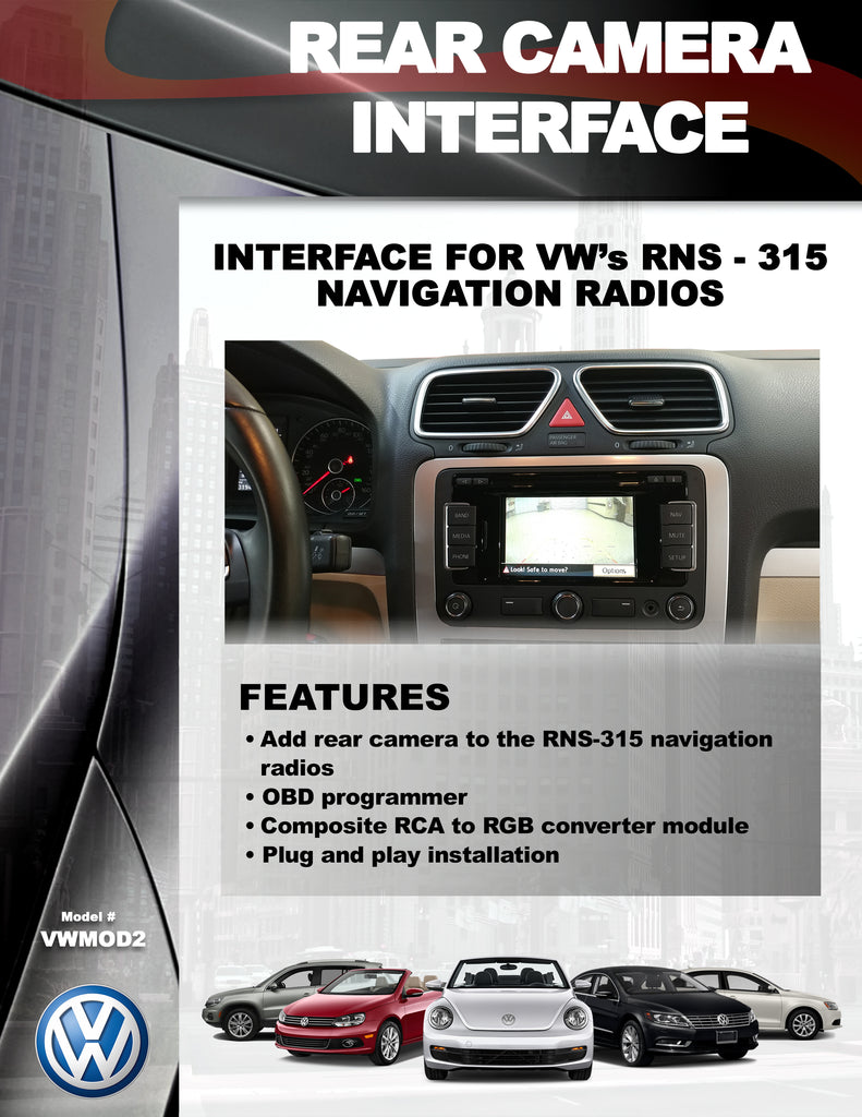 CAMERA INTERFACE PART#VWMOD2 – Automotive Integration Solutions