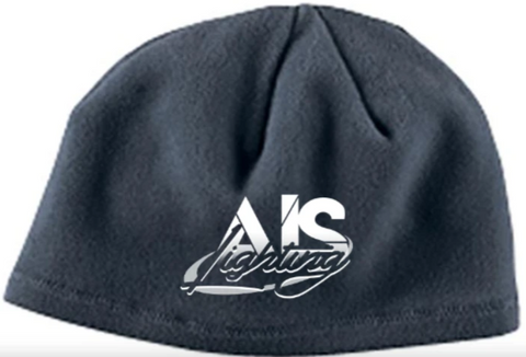 AISLBGY GREY FLEECE BEANIE