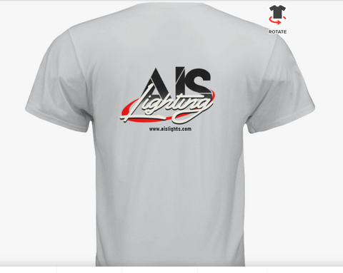 AISLTSWHL L MENS WHITE AIS LIGHTS T-SHIRT