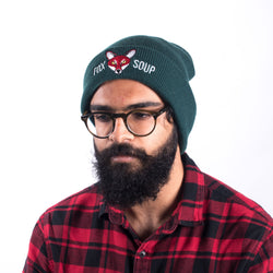 Original Fox Soup Beanie - Bottle Green