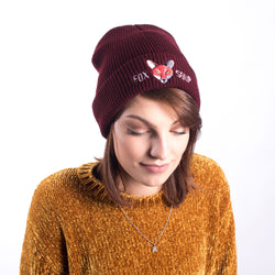 Original Fox Soup Beanie - Burgundy