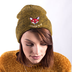Japanese Fox Soup Beanie - Mustard