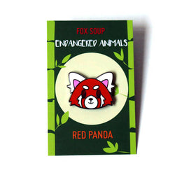 Red Panda Limited Edition Hard Enamel Pin