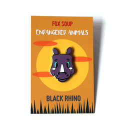 Black Rhino Limited Edition Enamel Pin