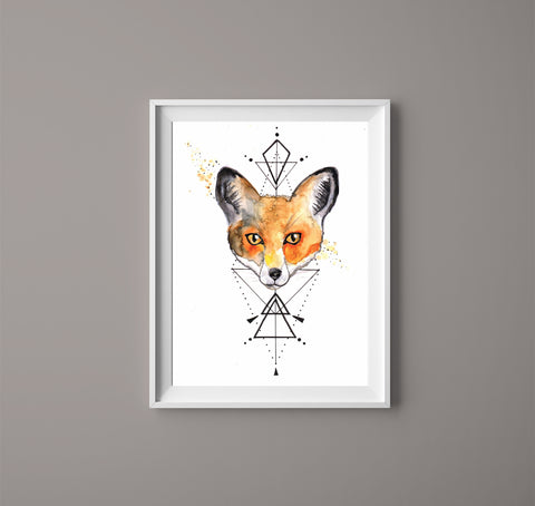 Watercolour Fox Print