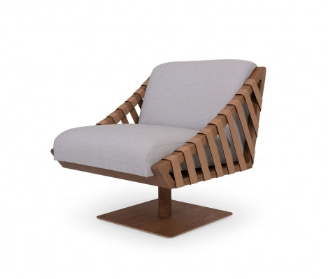 Girona lounge armchair by Moveis James (swivel base) - Kelly Christian Designs