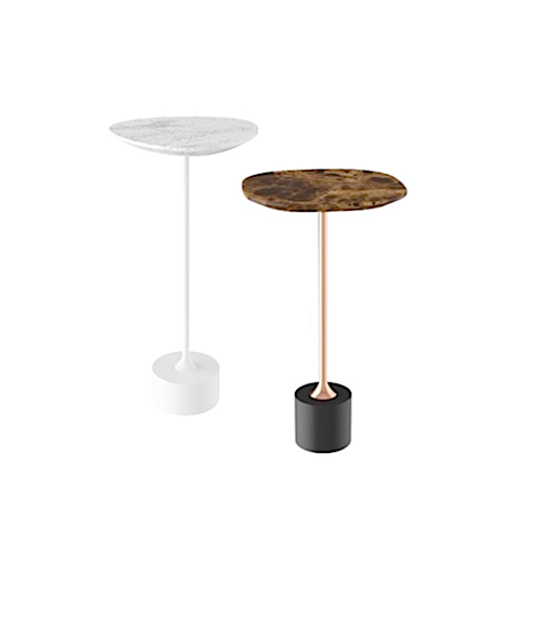 Jardim side table by Jader Almeida (marble top) - QUICK SHIP - Kelly Christian Designs