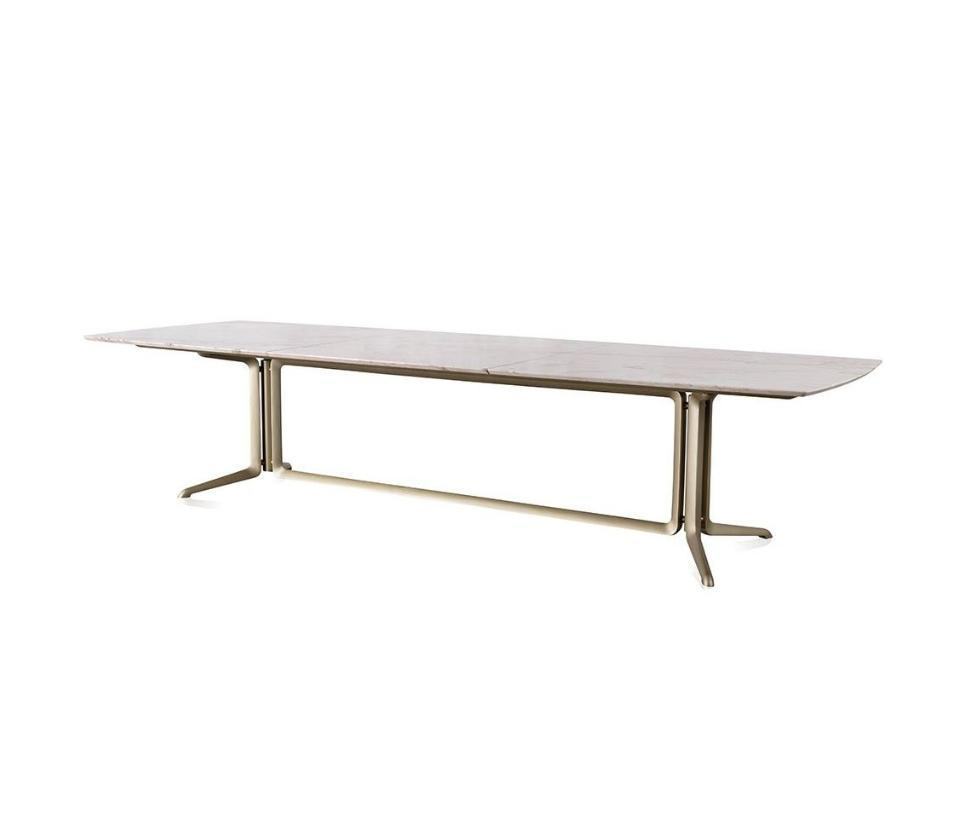 Legg dining table by Jader Almeida (marble top) - Kelly Christian Designs