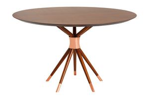 Ballerina dining table by Amélia Tarozzo (copper details) - Kelly Christian Designs