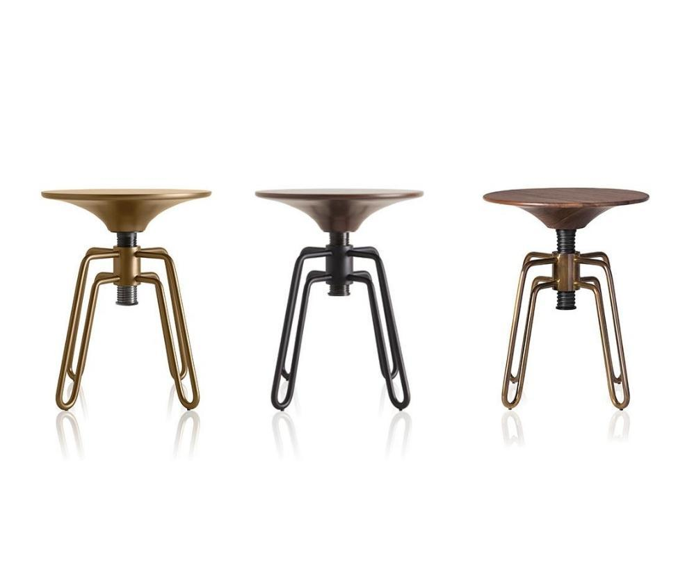 Phillips stool by Jader Almeida (adjustable height)