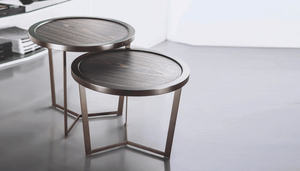 Top nesting side tables by Marcelo Ligieri (set of 2 nesting tables) - Kelly Christian Designs