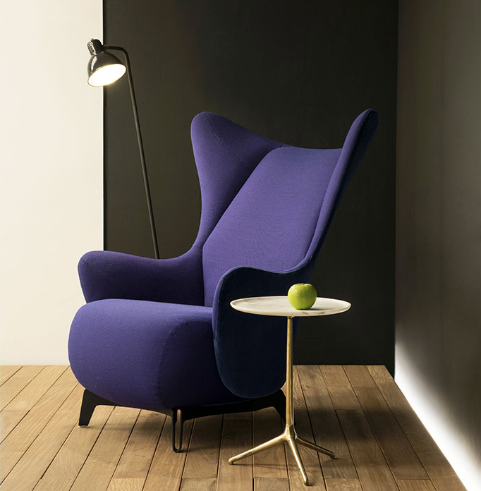 Wing lounge armchair by Jader Almeida - Kelly Christian Designs