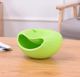 Creative Double Layer Fruit Dish Snack With Phone Holder