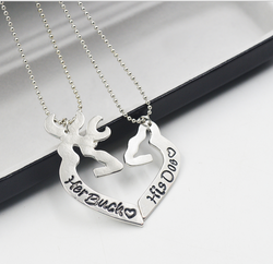 Hunting Couple Lovers Necklaces - 2 unids
