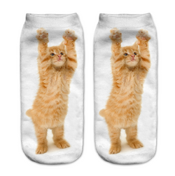 Hands up kitty socks