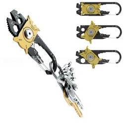 LUXURY 20 in 1 Outdoor Multi Tool Keychain -  Stainless Steel