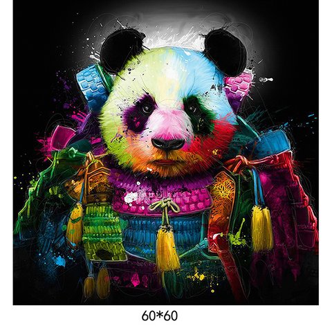 Colorful Panda  - 60x60 cm (24x24 inches)