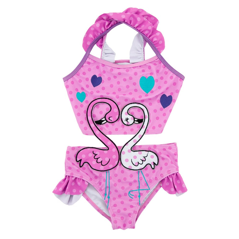 Maiô Infantil Flamingo Rosa - Boutique Baby Kids