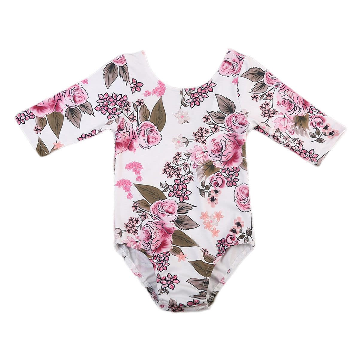 Body Bebê Floral Manga Longa - Boutique Baby Kids