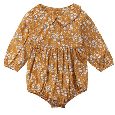 Body Bebê Floral Gola Peter Pan - Boutique Baby Kids
