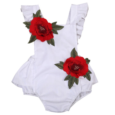 Body Bebê Aplique de Flor - Boutique Baby Kids