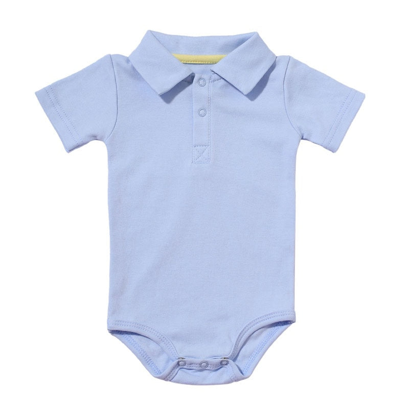Body Bebê Gola Polo Manga Curta - Boutique Baby Kids