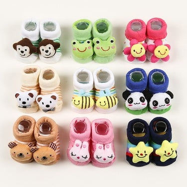 Kit com 5 Meias Bebê Pantufa - Boutique Baby Kids