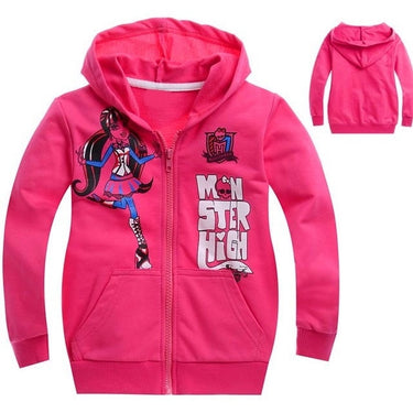 Casaco Moletom Infantil Rosa Monster High - Boutique Baby Kids
