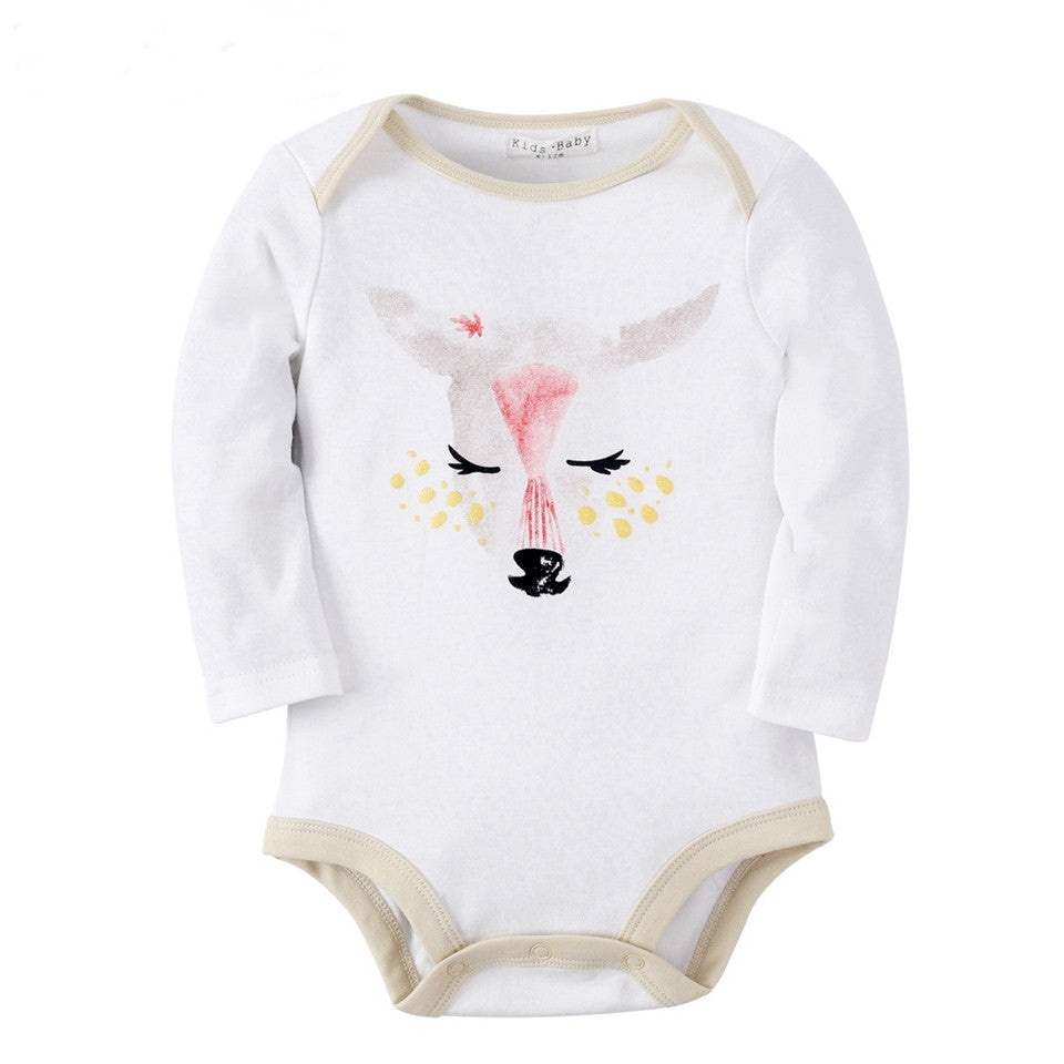Body Bebê Estampa Cervo Manga Longa - Boutique Baby Kids