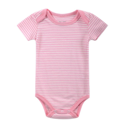 Body Bebê Rosa Listrado - Boutique Baby Kids
