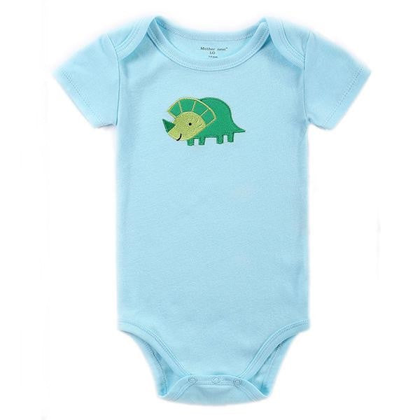 Body Bebê Azul Estampa Dinossauro - Boutique Baby Kids