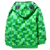 Casaco Infantil Minecraft Creeper - Boutique Baby Kids