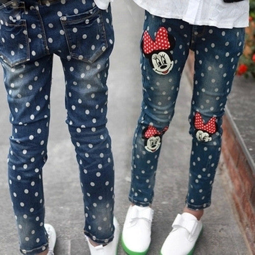Calça Infantil Jeans Skinny Disney Minnie - Boutique Baby Kids
