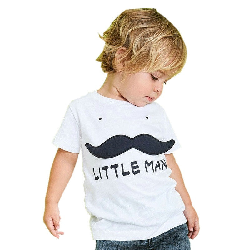 Camiseta Infantil Branca Little Man - Boutique Baby Kids