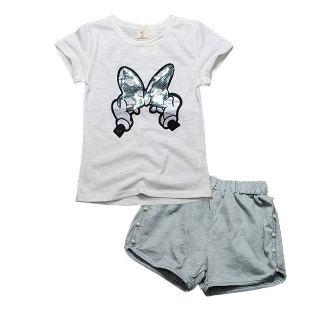 Conjunto Infantil Cinza Disney Minnie - Boutique Baby Kids