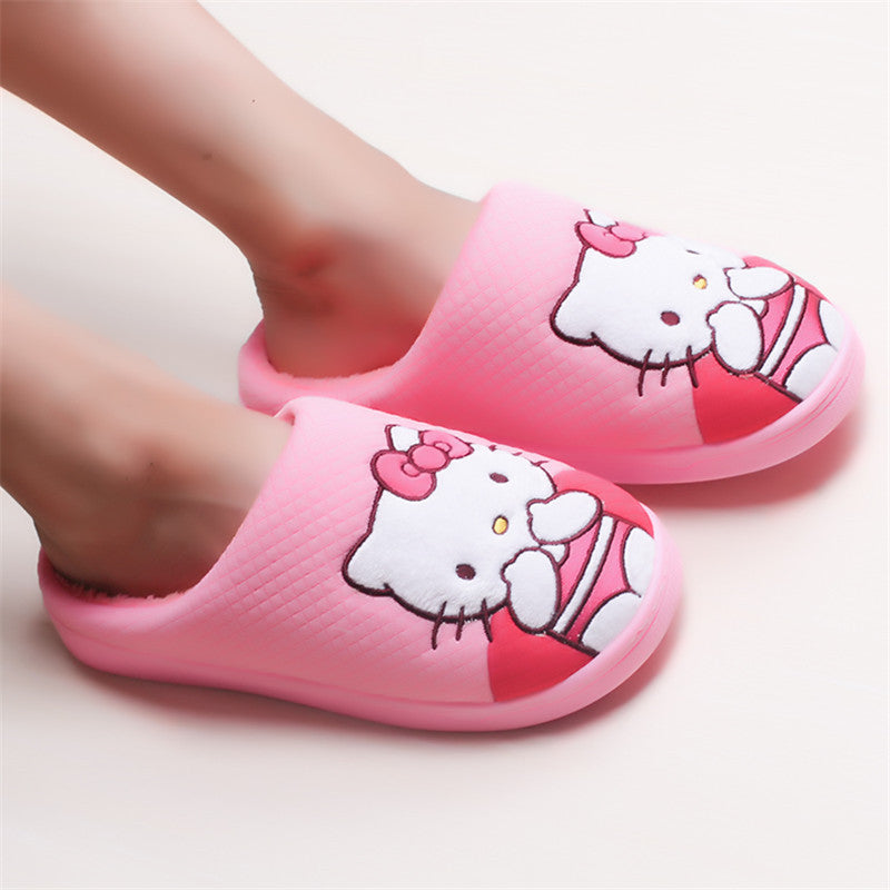 Pantufa Infantil Inverno Hello Kitty Rosa - Boutique Baby Kids