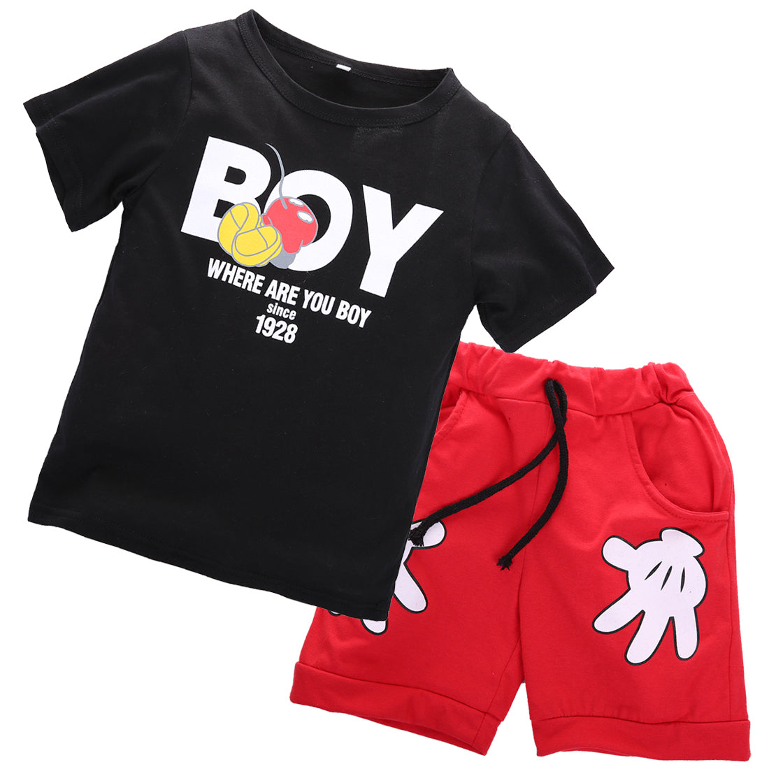 Conjunto Infantil Camiseta Short Mickey - Boutique Baby Kids
