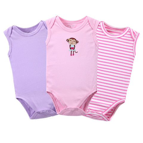 Kit com 3 Bodies Bebê sem Manga - Boutique Baby Kids