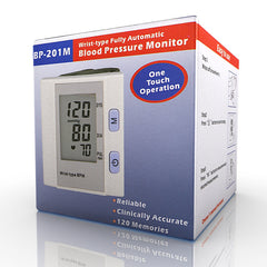 BP-201M Blood Pressure Cuff (Wrist) - Digital / Fully Automatic (AAA Batteries - NOT INCLUDED)