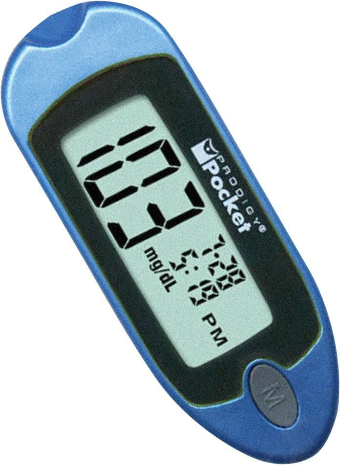 Prodigy Pocket Blood Glucose Monitoring System (Blue)