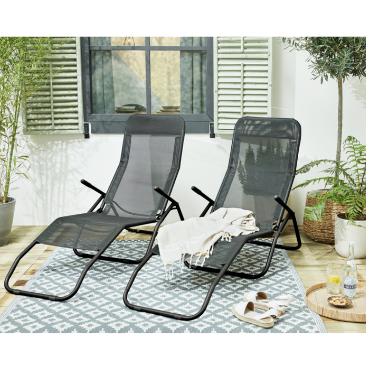 909 Outdoor Comfortabele Lounger set van 2