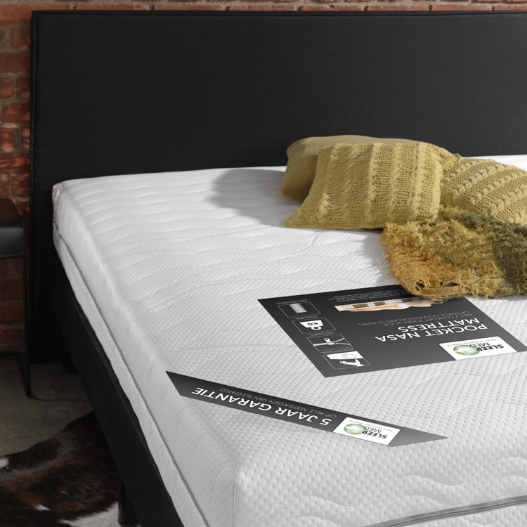SleepMed Pocketveer NASA Traagschuim Matras
