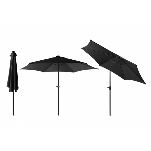 Outdoor XL Parasol zwart 3 meter 1