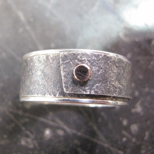 Silver & Gold Channel Ring