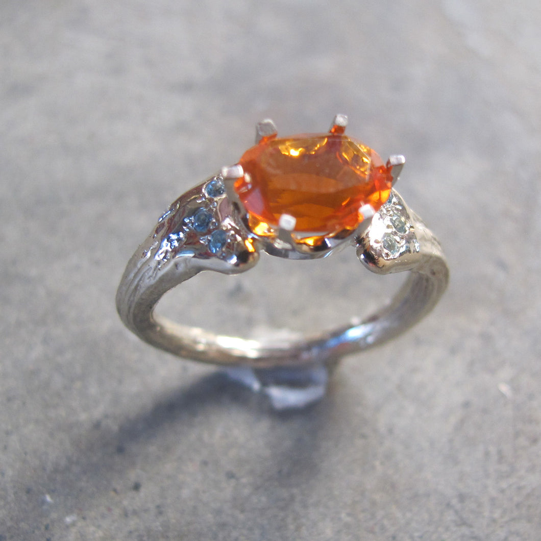 Oval Fire Opal Solitaire