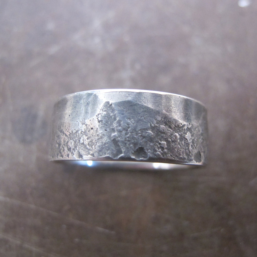 Mountain Range Textured Wedding Band