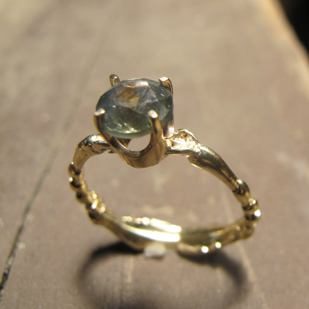 Rocky Mountain Blue Sapphire Engagement Ring