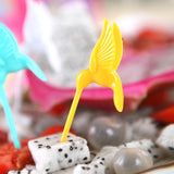 Cutie Birdie Fruit Forks + Tree Shape Holder for Party and Practical Home Decor